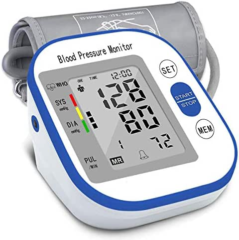 Blood Pressure Monitor Upper Arm FDA Approved, Fully Automatic Digital BP Machine Home Use with Large LCD Display, 2 Users Modes, 4*AA Batteries