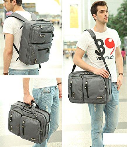 Bronze Times (TM) 17.3 Inch Business Travel Gear Laptop Shoulder Bag Backpack (Black) by Bronze Times (Image #9)