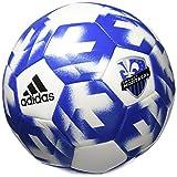 adidas AZ5434 Montreal Impact Soccer Ball 5, White/Blue/Black