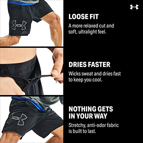 Image of Under Armour Men's Tech Graphic Shorts, Black/Graphite, MD