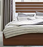 Auspicious Home Iceland King Size Bed With Storage In Teak Color