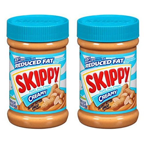 Skippy Peanut Butter, Reduced Fat Creamy, 16.3-Ounce Jars (Pack of 2)