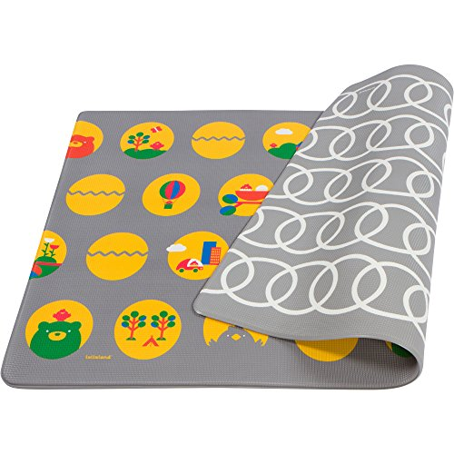 Lollaland Play Mat Foam Floor - Non-Toxic BPA-Free Non-Slip Reversible Waterproof - Gray by Lollaland