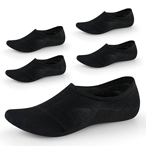 No Show Socks for Women-Low Cut with Non Slip Grip-Invisible Socks for Boat Shoes Sneakers US Size5-8 5Pairs SEESILY (Oxford Slip Heels)