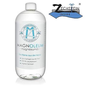 Zechstein Magnoleum Aceite de magnesio, 200 ml, envase con pulverizador, dermatológica y clínicamente probado, cloruro de magnesio, aceite natural: ...