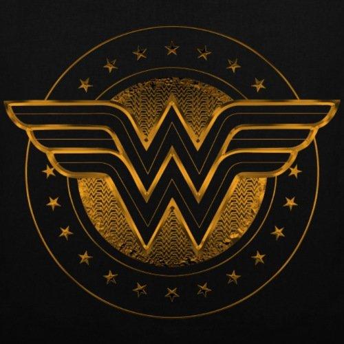 Bag Logo DC Spreadshirt Comics Étoilé Wonder Woman Tote Noir UTRqB