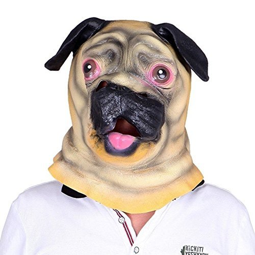 [Sunxue® Halloween Costume Pug Head Mask and Dog Head Mask] (Pug Costumes For Christmas)