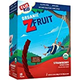 CLIF KID ZFRUIT - Organic Fruit Rope - Strawberry Flavor - (0.7 Ounce Rope, 18 Count)
