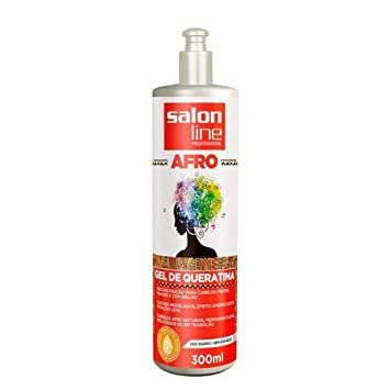 Amazon.com : Linha Tratamento (Afro) Salon Line - Gel De Queratina 300 Ml - (Salon Line Treatment (Afro) Collection - Keratin Gel 10.14 Fl Oz) : Beauty