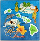 Island Map Beverage Napkins Set of 20