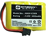 Toshiba DX634 Cordless Phone Battery Ni-CD, 3.6 Volt, 400 mAh - Ultra Hi-Capacity - Replacement for At&t/Avaya 2C1, Panasonic P-P301, Radio Shack 23-281, Sony BP-T16, Toshiba, Uniden BT-185 Rechargeable Batteries