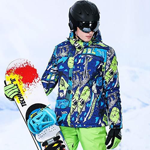 DIMPLEYA Veste d'hiver en Plein Air pour Hommes avec Vêtements De Coton Remplissants Coupe Vent Pluie Parkas Détachable Capuche Imperméable Soft Shell Randonnée Camping Ski,C,XXXL