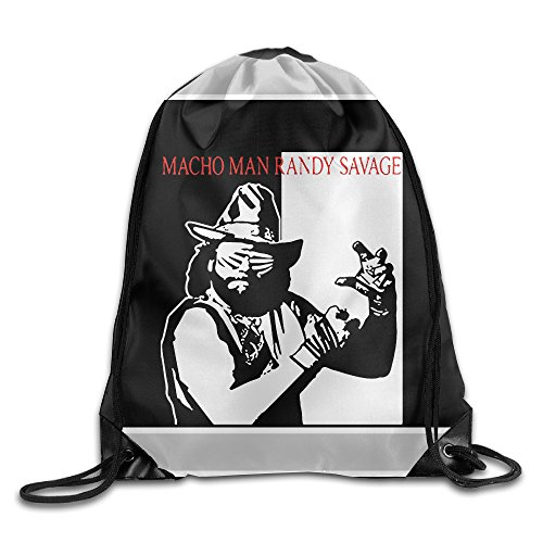 [Acosoy Macho Men Randy Savage Drawstring Backpacks/Bags] (Victorias Secret Costume Ideas)