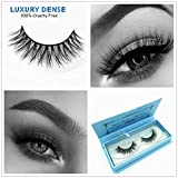 Miss Kiss 3D Mink Lashes Reusable Strip,100% Siberian Mink Fur False Eyelashes Hand-made Natural Style Cruelty Free 1 Pair Eye Lash Package (3D04)
