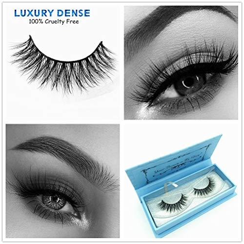 b804070622f Miss Kiss 3D Mink Lashes Reusable Strip,100% Siberian Mink Fur False  Eyelashes Hand