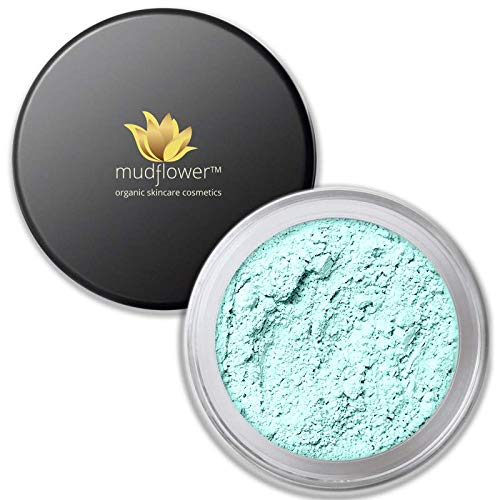 Mudflower Cosmetics Mint Color Corrector Mineral Primer, Mint Green, 1.0 ounce