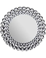 Private Label Round Jeweled Accent Mirror