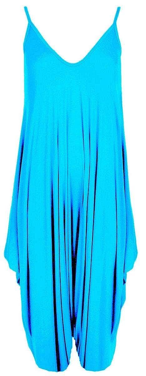 NAZ Fashion Womens Ladies Lagenlook Cami Strappy Romper Baggy Hareem Jumpsuit Playsuit Dress UK 8-26