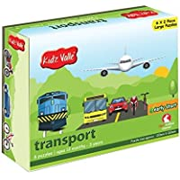 Kidz Valle Transport Puzzles 6 x 2 Pieces 12 Months - 3 Years (Puzzles for Kids, Floor Puzzles)