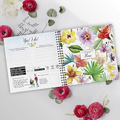 Pillow & Toast Our 1st Wedding Anniversary Journal: Memory Book & Photo Album Couples. Fill in Diary Proposal, Wedding Day Milestones. Bride Gift Ideas 2018! by Pillow & Toast (Image #3)