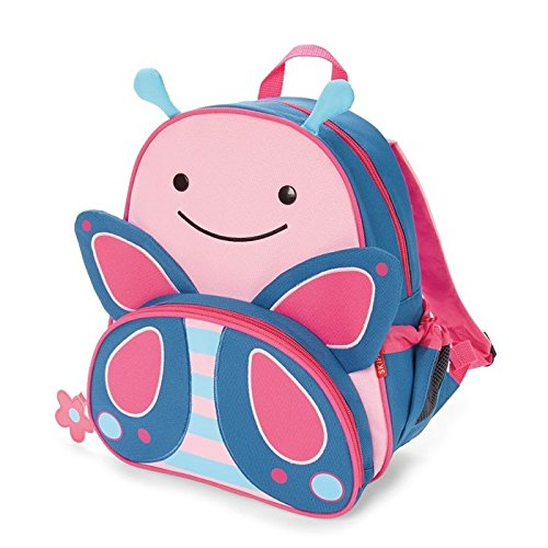 Skip Hop Zoo Toddler Kids Insulated Backpack Blossom Butterfly Girl, 12-inches, Pink
