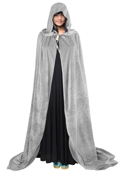 Halloween Cape à Capuche Poncho avec Capuchon Longue Costume Cosplay  Sorcière Diable Robe Médiévale Manteau Homme e5d5d679061