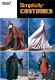 Simplicity Sewing Pattern 9887 Misses, Men and Teen Costumes, A (XS-S-M-L-XL)