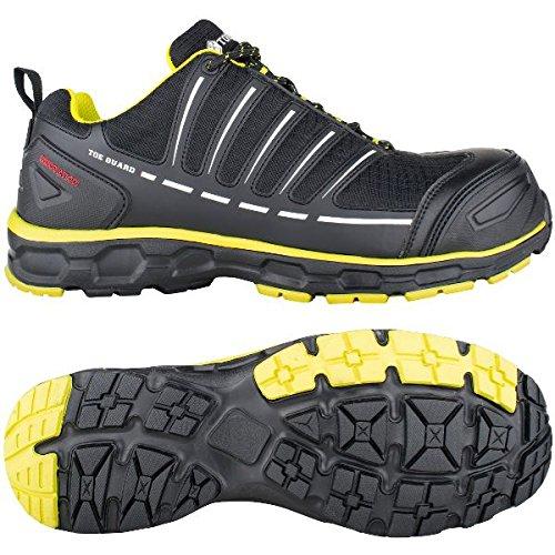 Toe Guard TG8051047 Sprinter Chaussures de sécurité S3 ESD SRC Taille 47 Noir/Citron Vert