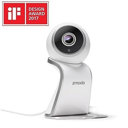 Zmodo HD 1080P cámara de vigilancia interior WiFi Teléfono Móvil 180 grados Panorama amplio inalámbrica WiFi