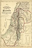 24x36 Poster; New Testament Map Palestine Israel Holy Land 1881; Antique Reprint
