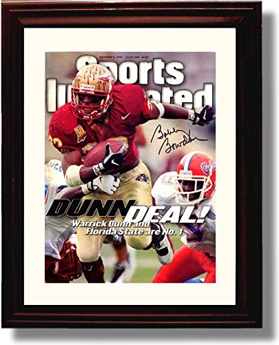 Framed Florida State Seminoles Bobby Bowden Dunn Deal 1996 Sports Illustrated Autograph Replica Print ()