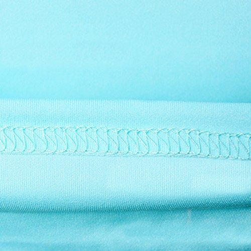 Damen Bleistiftkleid Etuikleid Knielang Elegant Fashion Kurzarm Slim Fashion Festlich Kleidung Paket Hüfte Stretch Business Kleid Cocktailkleid Partykleider Hellblau YksgZ6