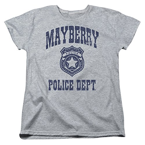 Andy Police Show Heather T shirt Griffith Athletic Mayberry Pour Femmes rvZXwrq