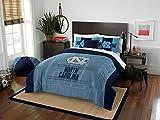 University Of North Carolina Tar Heels - 3 Pc FULL/QUEEN SIZE Printed Comforter & Shams - Entire Set Includes: 1 Full/Queen Comforter (86'' x 86'') & 2 Pillow Shams - NCAA College Bedding Accessories