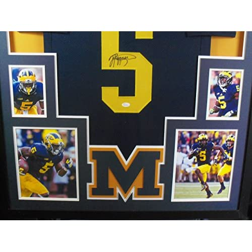 a60630f7db5 Jabrill Peppers Framed Jersey Signed JSA COA Autographed Michigan Cleveland  Browns