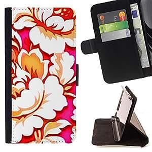 BEGONIA ART FLOWER FLORAL WALLPAPER BLOOM/ Personalizada del estilo del dise???¡Ào de la PU Caso de encargo del cuero del tir????n del soporte d - Cao - For LG Nexus 5 D820 D821