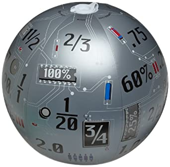 "American Educational Vinyl Clever Catch Toss N' Talk Fractions Decimals and Percents Ball, 24"" Diameter"