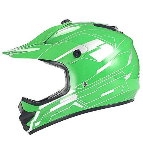 WOW Youth Kids Motocross BMX MX ATV Dirt Bike Helmet Storm Green