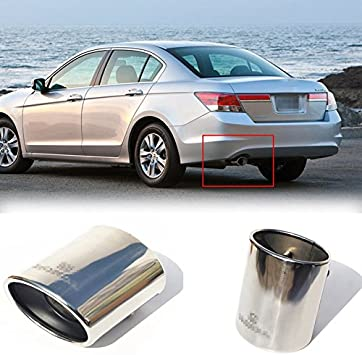 Stainless Steel Tailpipe Exhaust Muffler Tail Pipe Tip Chrome Fit ...