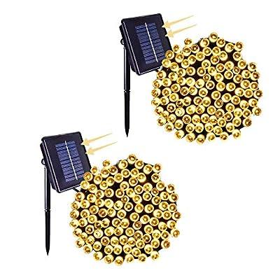HONGM 006-Solar String Lights 2 Pack