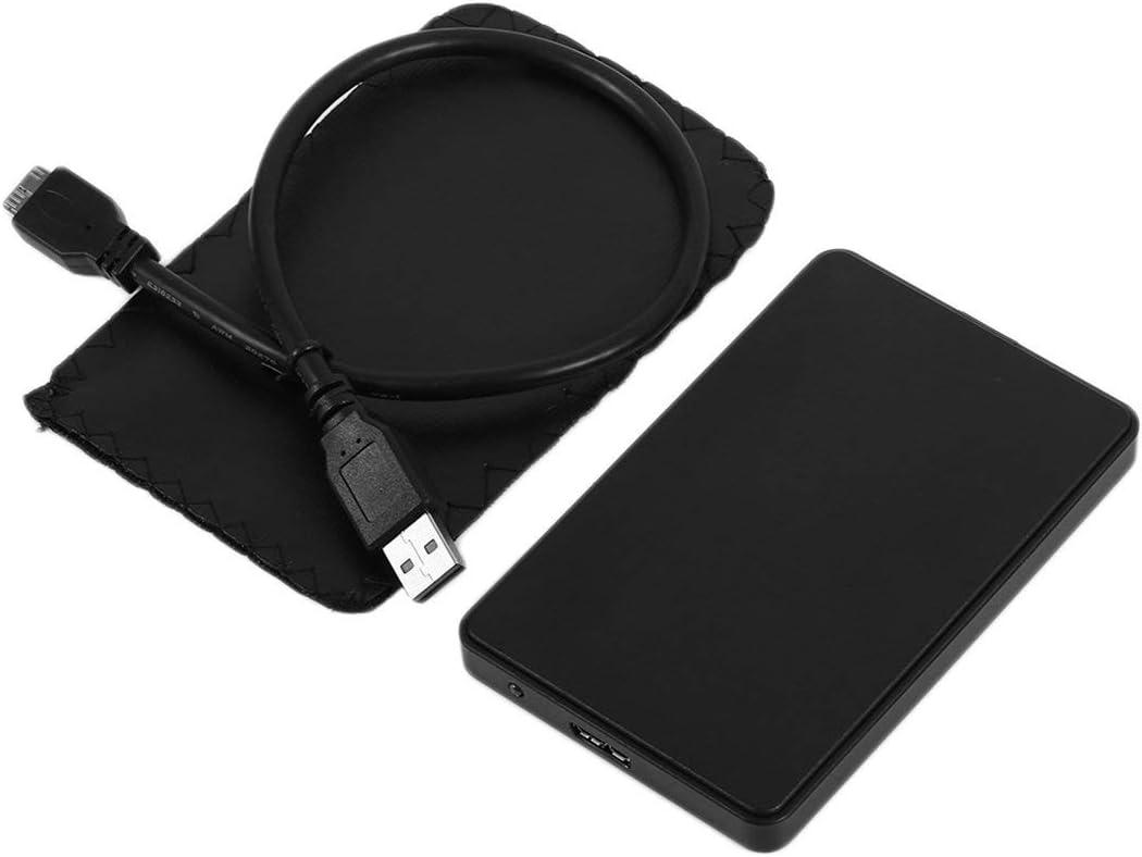 73JohnPol Fashion 2.5 Inch SATA External USB 3.0 HDD Caja Caja ABS ...