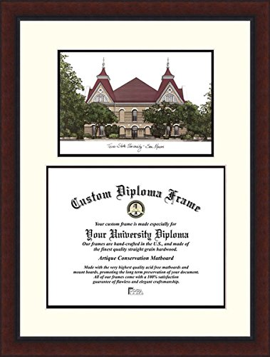 Campus Images TX956LV Texas State, San Marcos Legacy Scholar Diploma Frame, 11