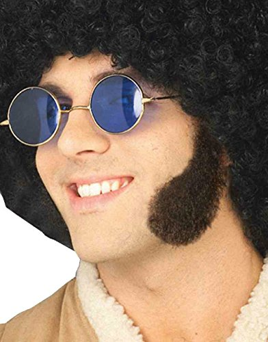 Mutton Chop Sideburns Costume (OvedcRay Adult Mens 60S 70S Mutton Chops Sideburns Civil War Costume Side Burn Black)