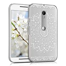 kwmobile Crystal Case for Motorola Moto G (3. Generation) with Design flower - transparent Protection Case Cover clear in white transparent