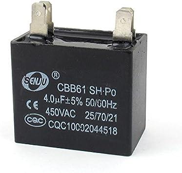AC 450V 4uF 50 / 60Hz 4Pin Ventilador de techo de funcionamiento ...