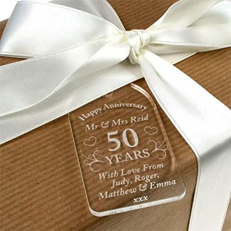 Personalised 50th Wedding Anniversary Gift 50th Anniversary Gift Engraved 50th Anniversary Gifts Amazon.co.uk Kitchen u0026 Home & Personalised 50th Wedding Anniversary Gift 50th Anniversary Gift ...