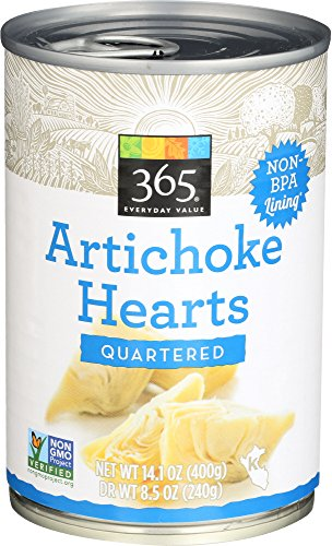 365 Everyday Value, Artichoke Hearts, Quartered, 14.1 oz (Quartered Cherry)