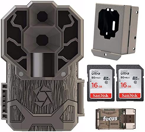 Stealth Cam Dual Sensor STC-DS4K Trail Camera 4K Video, 30 MP with Security Box, 2 Memory Cards and Reader