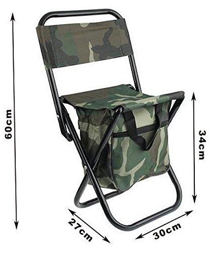 Colore Mimetico DOBO/® Sedia portatile pieghevole da campeggio pesca caccia o camping sgabello di facile trasporto