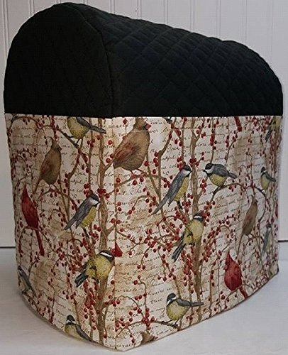 Penny's Needful Things Birds & Berries Cover Compatible for Kitchenaid Stand Mixer (Black, 7qt Proline/8qt ()